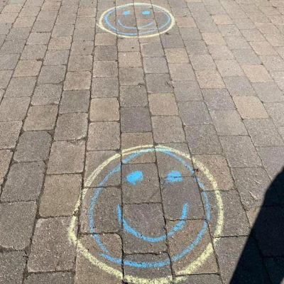 smiley-face social distancing